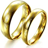 Fashion jewellery The Lord of the Rings Couple Jewelry stainless steel WEDDING RING GJ320