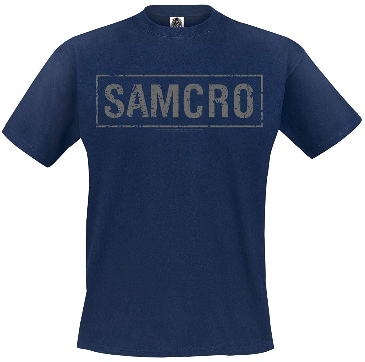 Sons of Anarchy Samcro T-Shirt Manches Courtes Marine