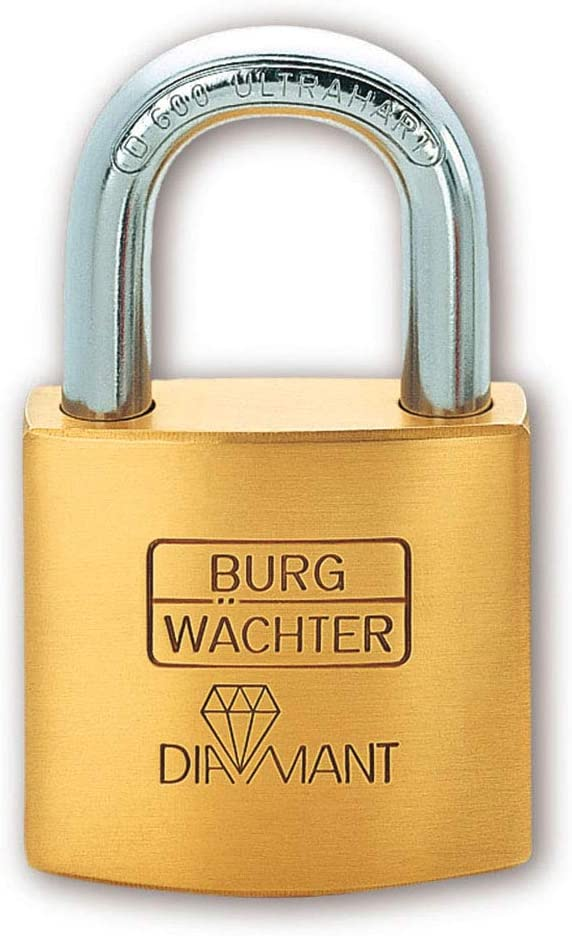 Diamant D 600 50 B/ügelst/ärke: 9 mm 2 Schl/üssel BURG-W/ÄCHTER Vorh/ängeschloss Inkl