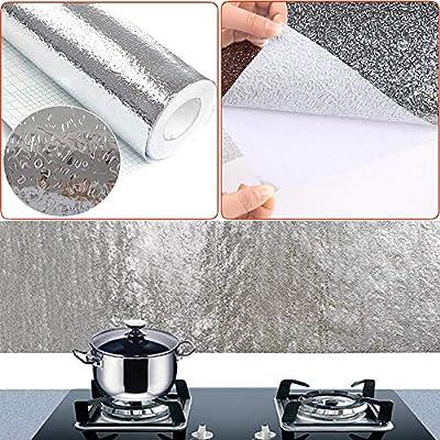 Papel de Aluminio Adhesivos de Pared, Autoadhesivo Anti- Aceite ...