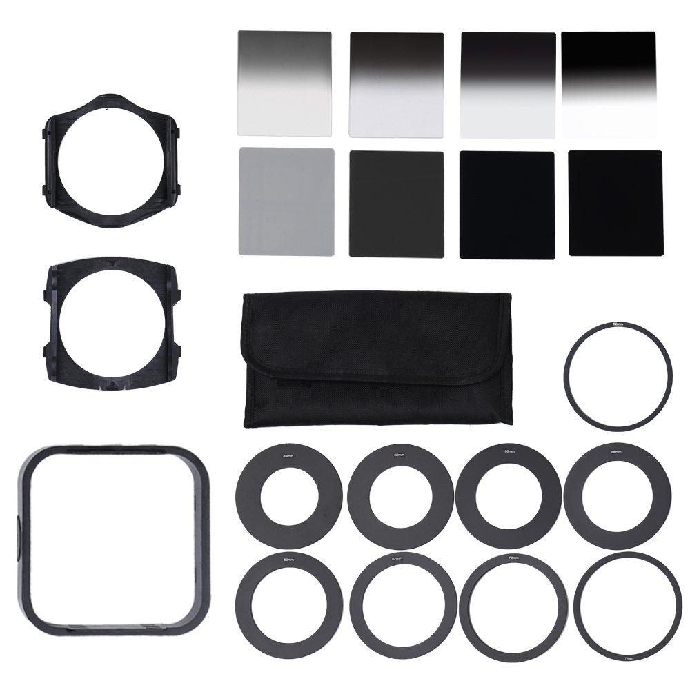 Andoer Professional Universal Neutral Density ND2 4 8 16 Filter Kit for Cokin P Set SLR DSLR Camera Lens Camera Photo Accessories