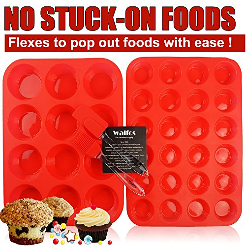 Walfos Reusable Silicone Muffin Dishwasher