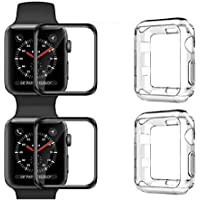 [2Pack] Apple Watch 4 Case Cover, Soft Transparent TPU Clear Crystal Cover With Screen Protector Protective Guard iWatch 4 Case for Apple Watch 4 - 44mm