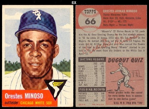 1953 Topps Regular (Baseball) Card# 66 Orestes Minoso of the Chicago White Sox VG Condition by Topps