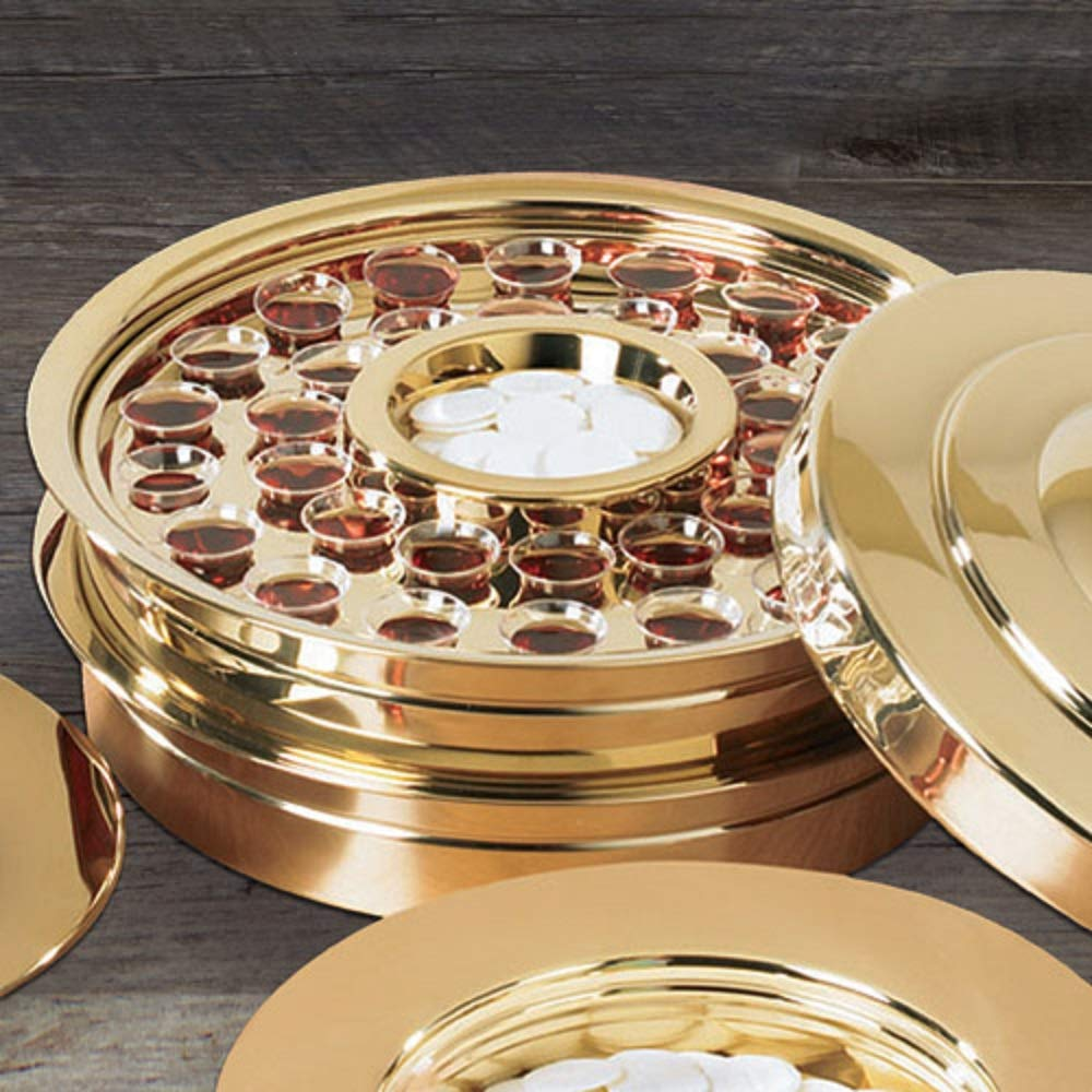 Stacking Communion Tray, Brass Tone (PD378BRS)