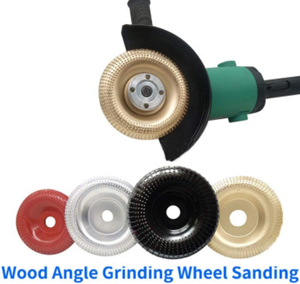 Baluue Wood Carving Disc Angle Grinder Wood Cutting Wheel Shaping Disc Woodworking Angle Grinder Attachment for Sanding Carving Shaping Polishing Grinding