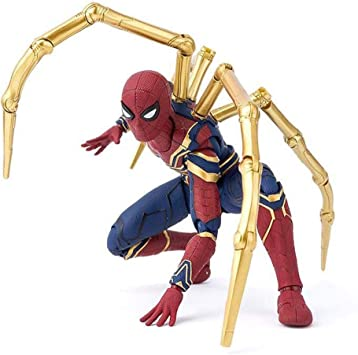 Marvel Supereroe AVVENTURE IRON SPIDER ACTION FIGURE-NUOVA