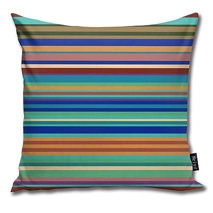 Amazon.com: Brecoy Bauhaus Stripe Green Throw Pillow Cushion ...