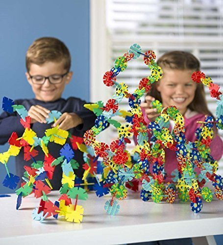 Connectagons Original and Geometry Deluxe Set, 480 Piece Wooden 3D Interlocking Toys Building Play Set