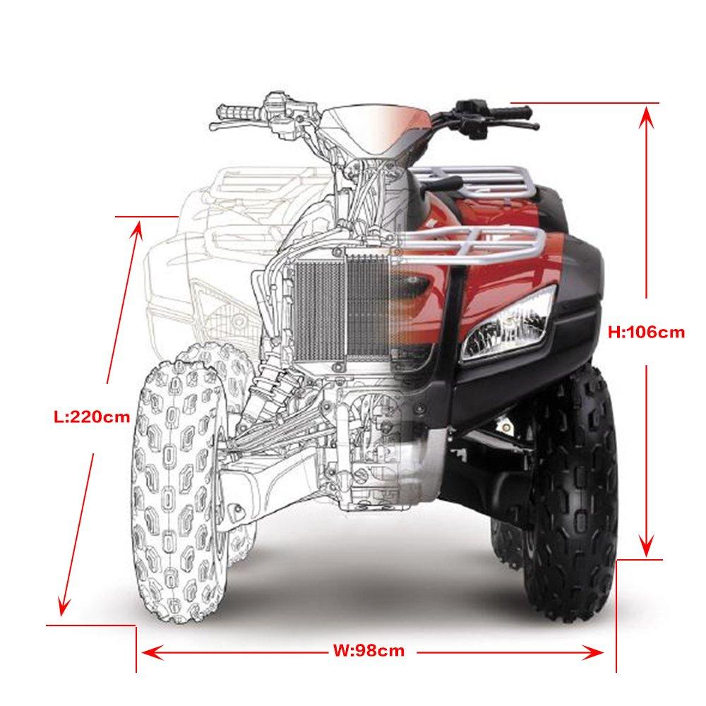 UV XXXL Noir NOVSIGHT Housse//B/âche Protection pour Moto Quad ATV Ext/érieure Etanche Anti