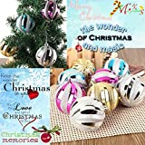 12pcs 8cm Christmas Baubles Round Balls Blue Tree Ornament Home New Year Party Wedding Decorations