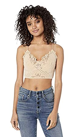 f9606c3593 Image Unavailable. Image not available for. Color  Free People Madonna  Cream Velvet Lace Bralette