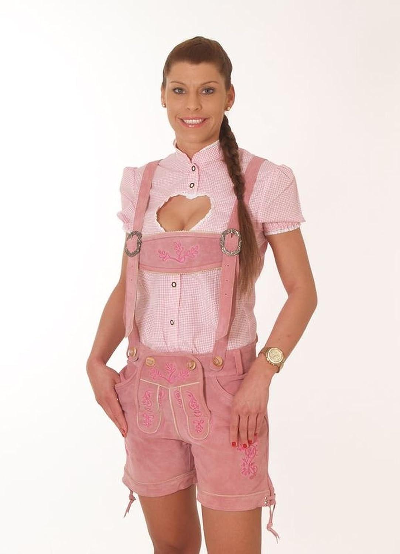 Ramona Lippert kurze Trachten Lederhose Damen Elena rosa