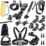 Neewer 18-In-1 Action Camera Accessory Kit for GoPro Hero Session 5 Hero 1 2 3 3+ 4 5 SJ4000 5000 6000 DBPOWER AKASO VicTsing APEMAN WiMiUS Rollei QUMOX Lightdow Campark Sony Sports DV and More