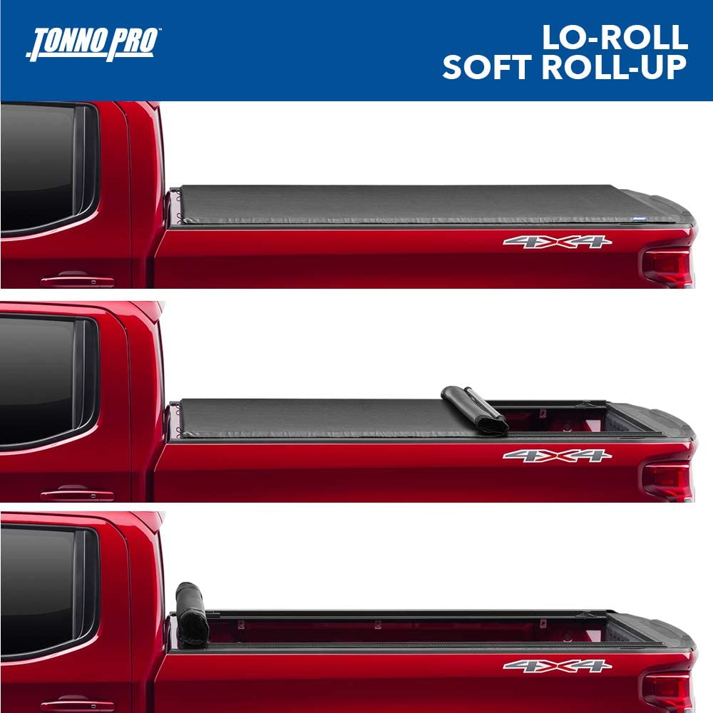 Amazon Com Tonno Pro Lo Roll Soft Roll Up Truck Bed Tonneau Cover Lr 3045 Fits 2015 2020 Ford F 150 5 7 Bed 67 Automotive