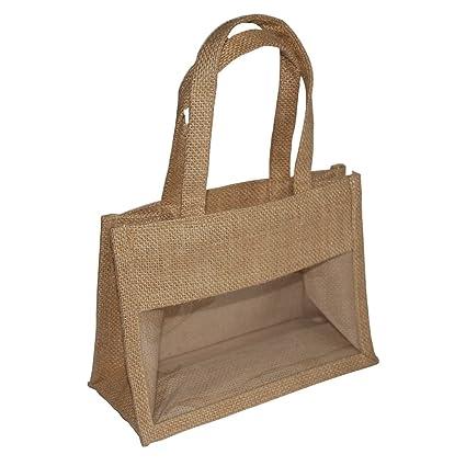 4 x tamaño mediano bolsas de embalaje de regalo de yute con ...