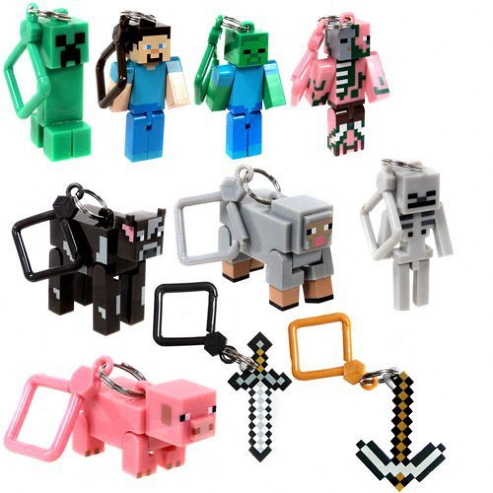 J!NX Minecraft Toy Action Figure Hanger Set Kingfansion (3-Inch 10-Piece) Series 1 unknown