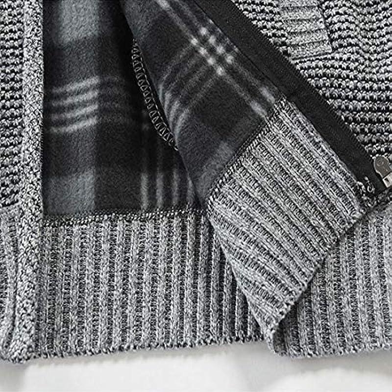 Męskie Cardigan Strickjacke Lange Ärmel Feinstrick Mit Stehkragen Und Reißverschluss Sport Casual Daily Wear Winter Warm Gemütlich Outwear: Odzież