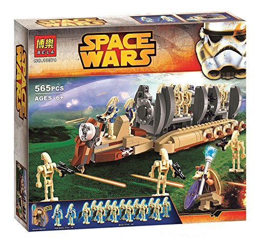 [565pcs Bela 10374 Star Wars Battle Droid Troop Carrier Building Blocks Toys Gifts Minifigures diy] (Diy Star Wars Dog Costumes)