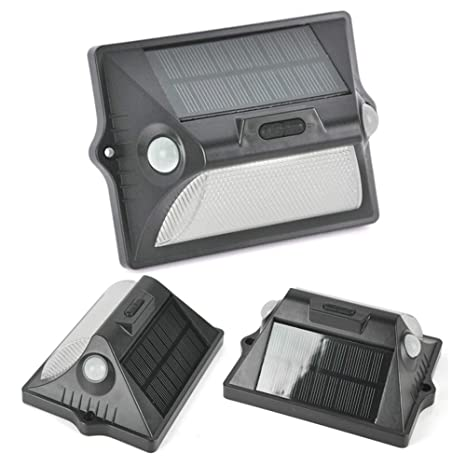 Outdoor LED Solar Lights with Motion Sensor,Outdoor Waterproof Dual Headed 180° Sensing Range