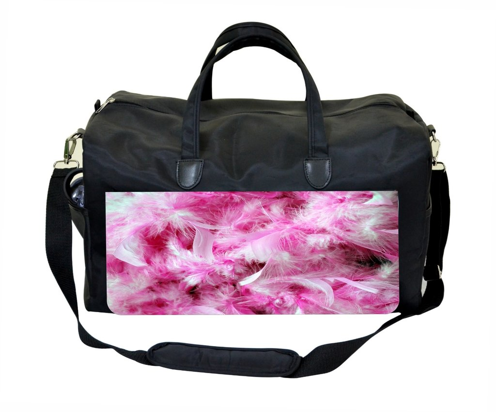 Pink Feathers Print Design Therapist Bag