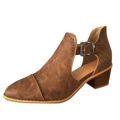 buy popular 2f9d4 1cbd5 ZIYOU Damen Mode Frühjahr Einzelne Schuhe Frauen Runde Zehe ...