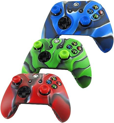 Pandaren® Piel Fundas Protectores para el Mando Xbox One x 3 + ...