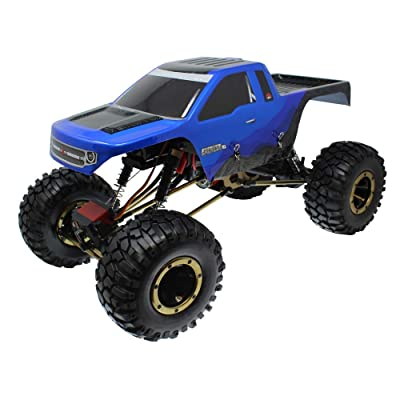 Redcat Racing Everest-10 Electric Rock Crawler with Waterproof Electronics, 2.4Ghz Radio Control (1/10 Scale), Blue/Black: Toys & Games