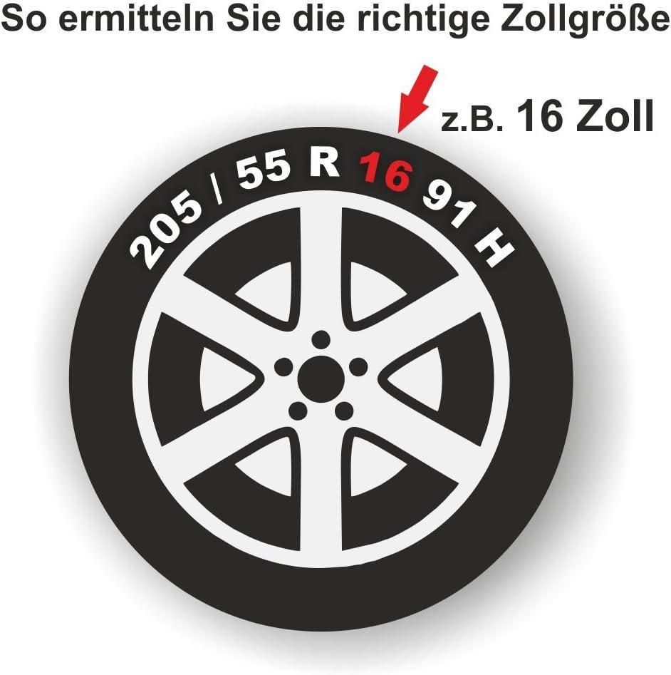 Universal Radzierblende GTX schwarz 16 Zoll f/ür viele Fahrzeuge passend