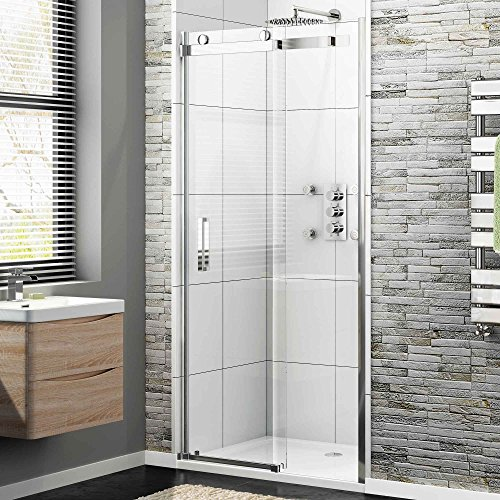 x 700 frameless 8mm sliding easy clean glass shower enclosure door tray set ibathuk amazoncouk kitchen u0026 home
