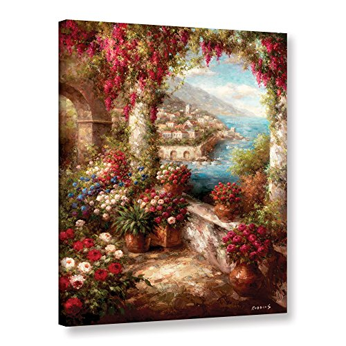 Robbins's Mediterranean Coast Terrace, Gallery Wrapped canvas 36x48 (Mediterranean Terrace)