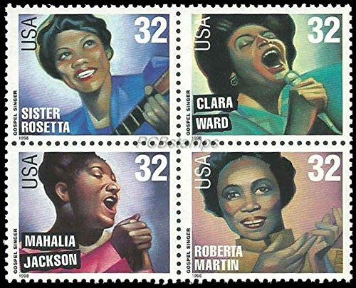 Gospel Singers Full Block of Four 32 Cent Stamps Scott 3216-19 (Legend The Best Of Mahalia Jackson)