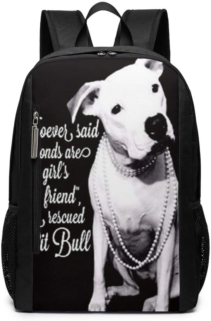 PIT BULL FACE PERSONALIZED NAME NYLON DRAWSTRING BACKPACK GIFT BAG