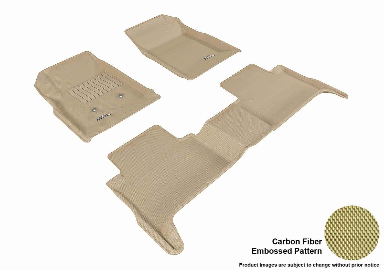 3D MAXpider Custom Fit Complete Floor Mat Set for Select GMC Canyon Models Kagu Rubber Gray