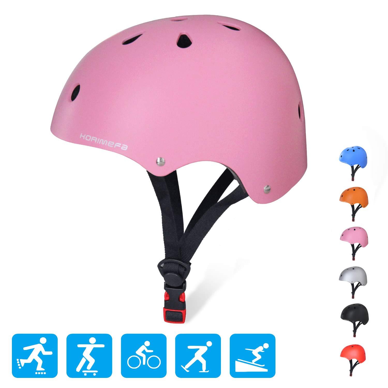 KORIMEFA Kids/Teen/Adult Bike Helmet Toddler Helmet Adjustable Kids Helmet CPSC Certified Multi-Sport Safety Cycling Skateboard Scooter Helmet,Pink M