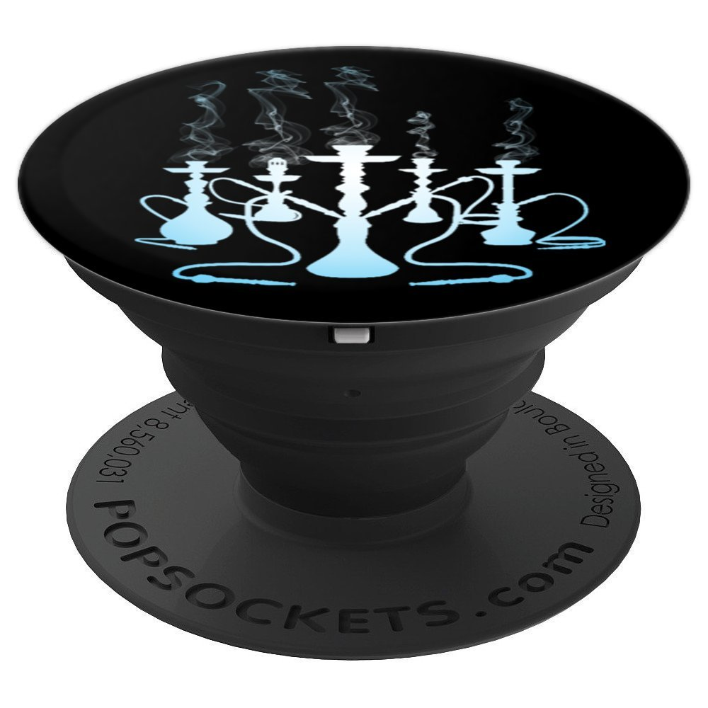 Hookah Smoke Blue Gradient - PopSockets Grip and Stand for Phones and Tablets