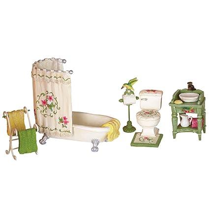 Amazing Collections Etc Miniature Hummingbird Bathroom Set