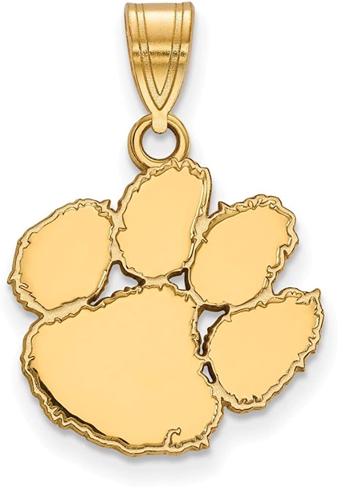 Gold-Plated Sterling Silver University of Iowa Large Dog Tag by LogoArt