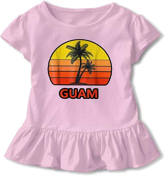 Cool Retro Shark Toddler Baby Girls Short Sleeve Ruffle T-Shirt