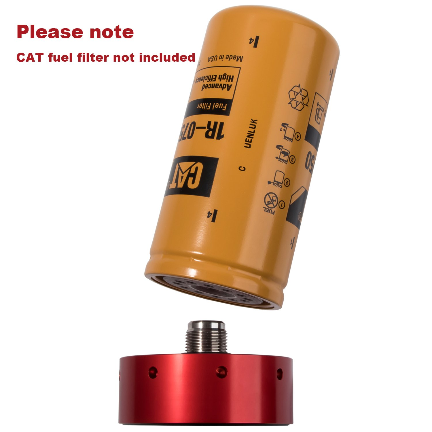 Danti Cat Fuel Filter Adapter For Chevy Gmc Duramax 2005 Kia Sportage Diesel 2001 2016 Automotive
