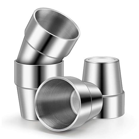Amazon.com: Juego de 4 vasos de acero inoxidable Beasea con ...