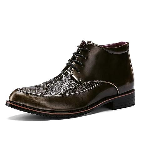 893a8b96cf5a Hilotu Men's Business Oxfords Dress Shoes Casual Fashion High-top ...