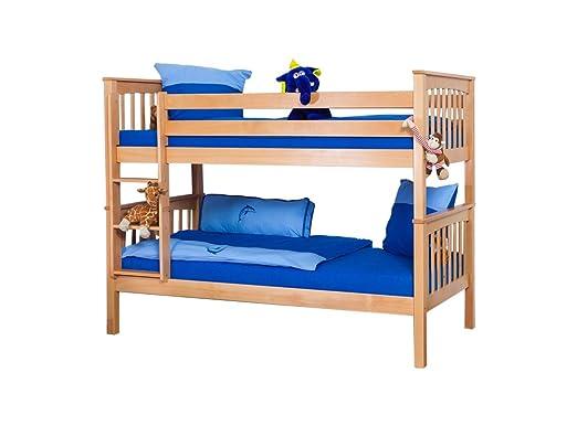 Etagenbett Abc Betten : Kinderbett etagenbett mario buche vollholz massiv natur inkl