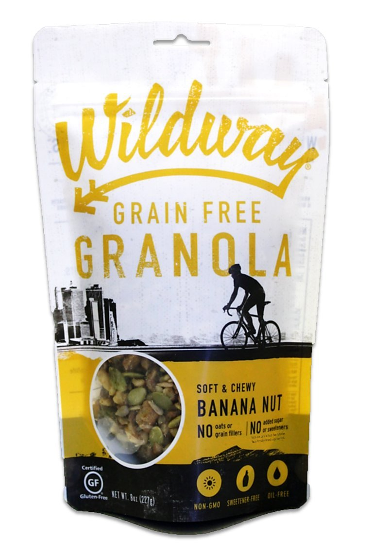 Wildway Keto, Vegan Granola | Banana Nut | Certified Gluten Free, Paleo, Grain Free, Non GMO, Dairy Free, No Artificial Sweetener | 8oz, 6 pack by Wildway