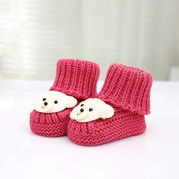 YANRR De Dibujos Animados Infantil Zapatos Hechos a Mano-Ropa bebé niño Puro Tejido a Mano niños y niñas suéter Zapatos Zapatos de bebé de Cachorros: ...