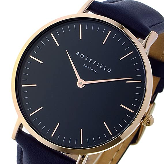rosef – The Bowery Black Blue Rose de oro reloj de pulsera bbbur B18