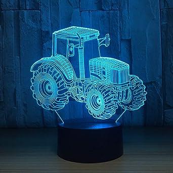 BFMBCHDJ Nuevo Tractor 3D LED Luz de noche Multicolor RGB ...