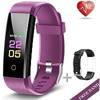 Fitness Trackers- Activiteit Tracker Horloge met Hartslag Bloeddruk Monitor, Waterdicht Horloge met Slaapmonitor, Calorie Stap Counter Horloge voor kinderen Vrouwen Mannen Compatibele Android iPhone Smartphone