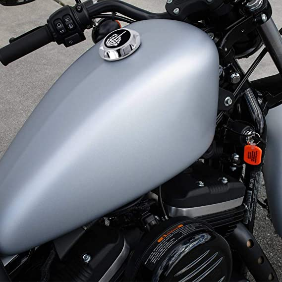 Guaimi Aluminium Tankdeckel Kraftstoff Tankverschluss Für Harley Davidson Sportster Xl 1200 883 X48 Dyna Mittelfinger Schwarz Auto