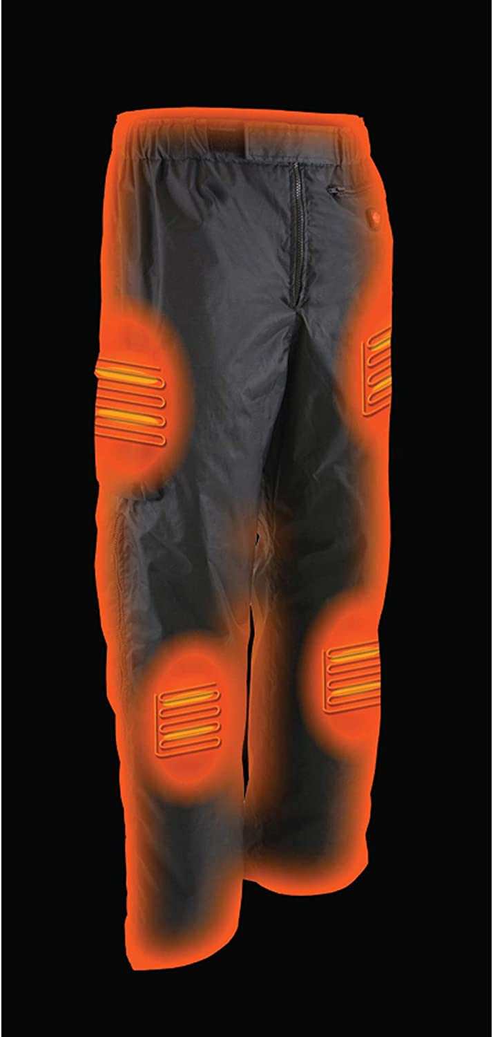 Battery Included BLACK, XL Milwaukee Leather Pants Mens Water Resistant Textile w//Frnt /& Bck Heating Elements